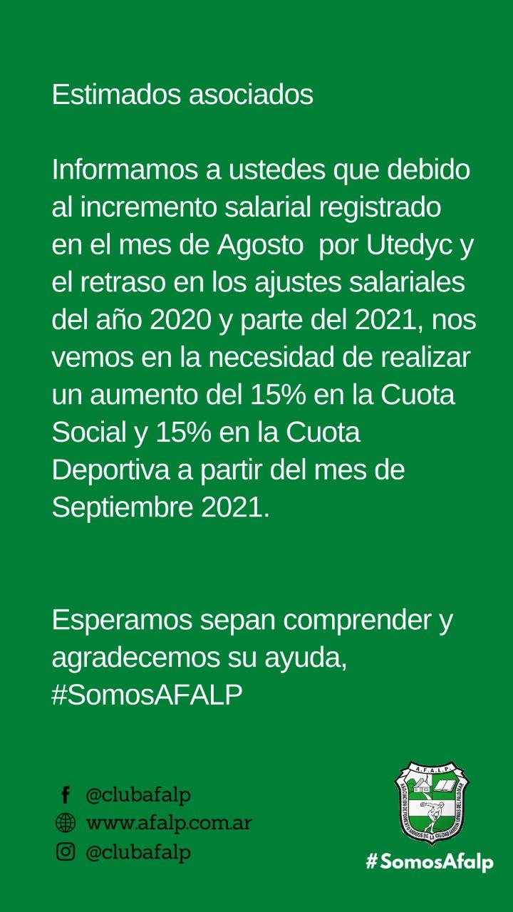 Cuota Social – Septiembre 2021